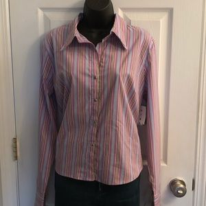 Unique Spectrum Striped Blouse Size XL